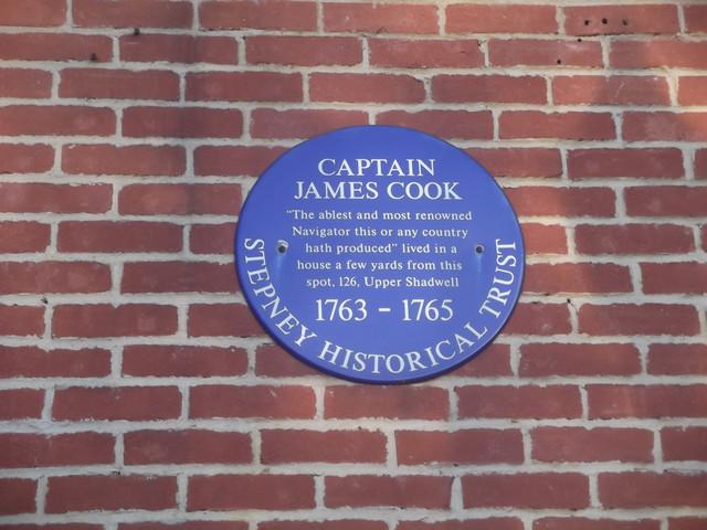 James Cook blue plaque - Captain James Cook