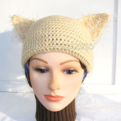 Tan Cat Ears Hat