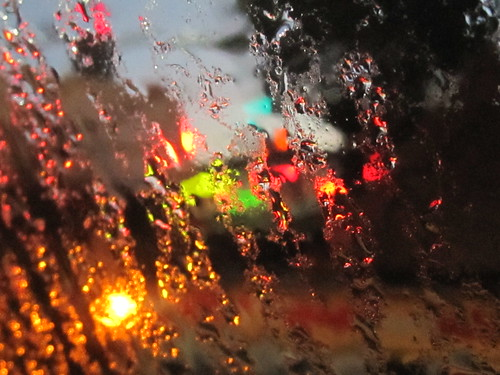 Rain and Abstract Traffic Lights