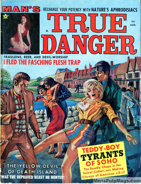 MAN'S TRUE DANGER, Aug. 1963. Cover by Charles Frace