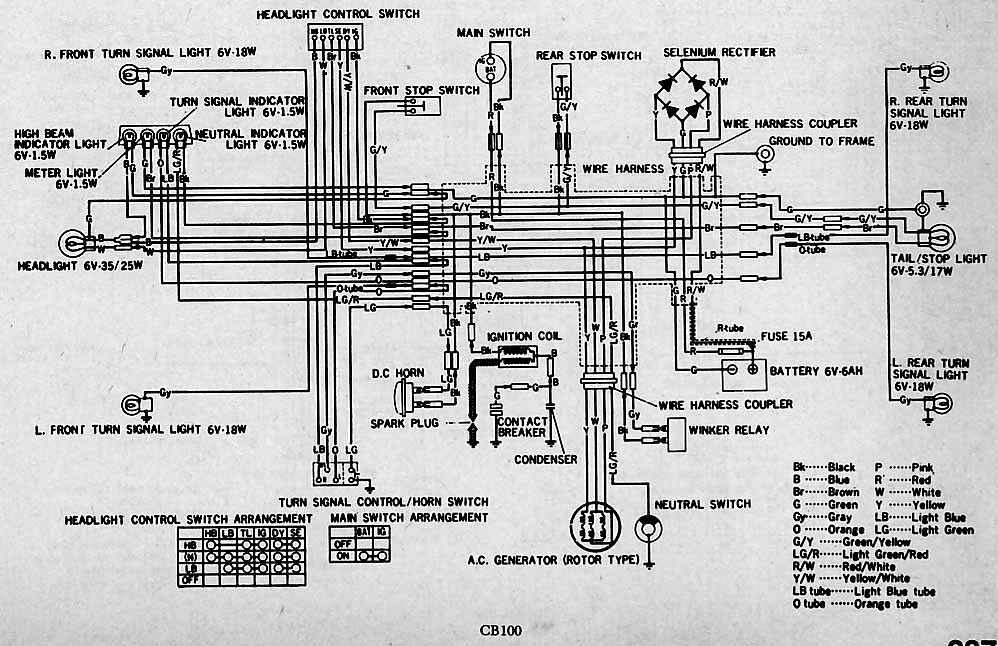 HondaCB100Electrical   wiring      diagram     a photo on Flickriver