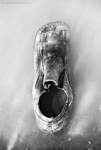 [El agua va pudriendo un zapato olvidado] . [Parc natural del Delta de l'Ebre] - III by Otazu