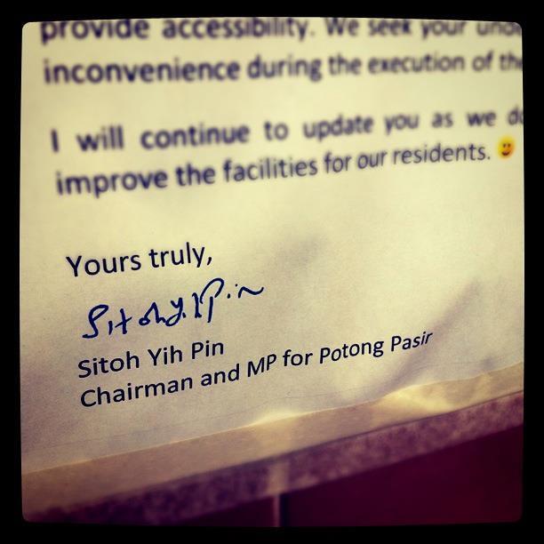 1 Jan - Potong Pasir has a new, hardworking MP :)