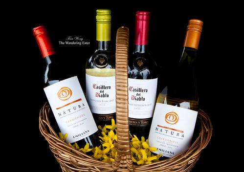 """Emiliana """"Natura"""" Organic Carménère and Unoaked Chardonnay wines & Castillo del Diablo Sauvignon Blanc and Cabernet Sauvignon Blanc"""