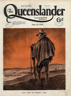 Illustrated front cover from The Queenslander, April 23, 1931