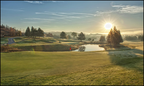 sun ontario canada sunrise golf landscape inn nikon huntsville course flare nik grandview nikkor 2470mmf28 colorefexpro d700 hdrefexpro