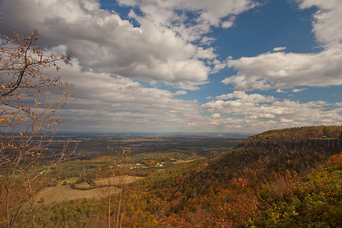 park autumn ny newyork fall day cloudy indian falls trail scenary albany ladder foilage thacher