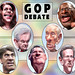 Caricatures: GOP Presidential Debate Participants