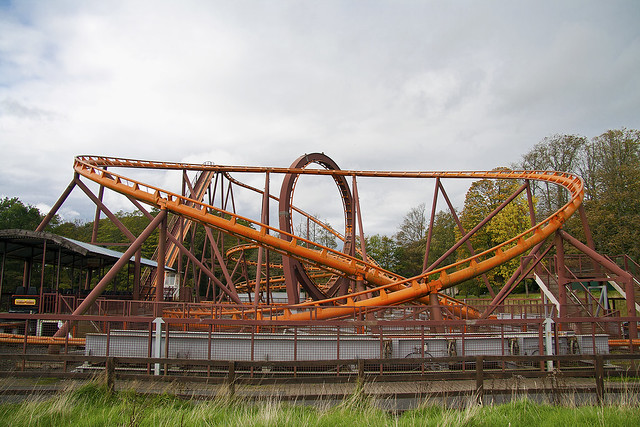Loudoun Castle's Twist and Shout rollercoaster