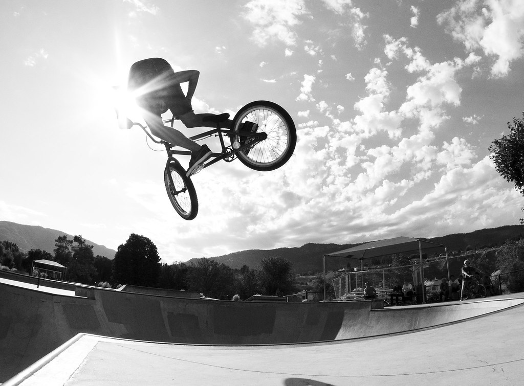 Lazerdick Hip Style kick out in Penticton BC, oh so visual black and white