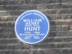Photo of William Henry Hunt blue plaque