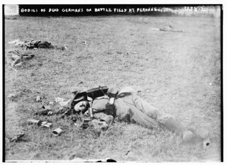 Bodies of dead Germans on battle field at Peronne  (LOC)