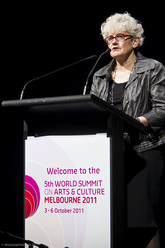 Sarah Gardner, Executive Director of IFACCA at the official opening of the 5th World Summit on Arts and Culture