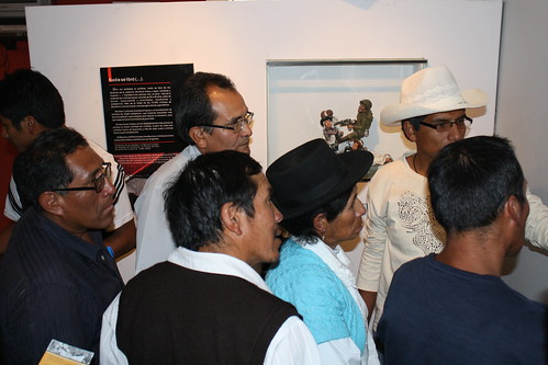 Relatives visit the ANFASEP museum