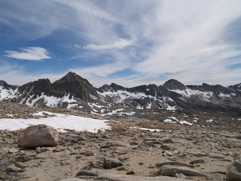 Dusy Basin - Isosceles, Columbine, and Giraud Peaks