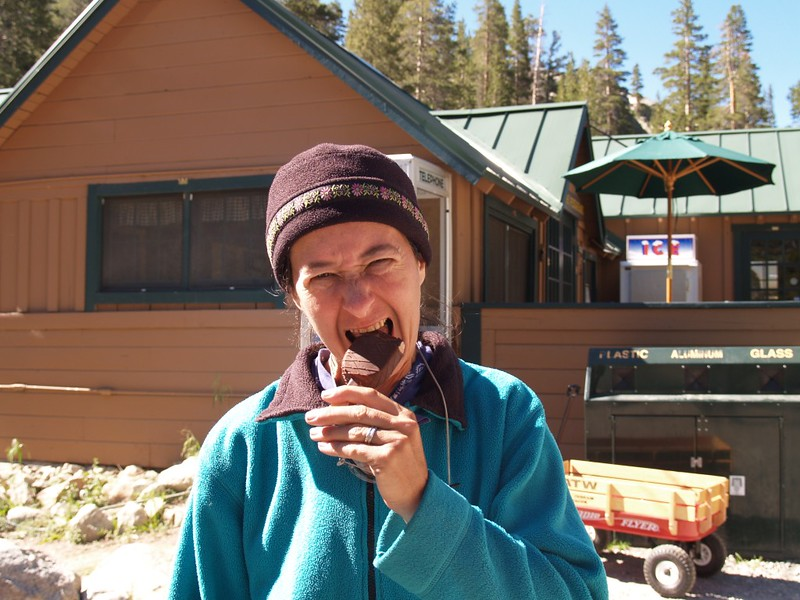 Ice Cream at Parchers Resort - our reward for a long week of backpacking