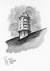 11032011 Virginia Tech Cupola on East Eggleston Hall by sketchySteven