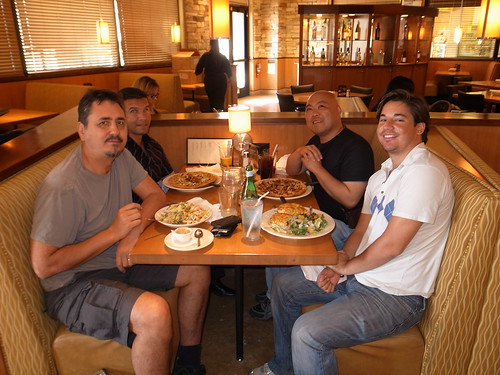 Neil Michael Juan and me at California Pizza Kitchen