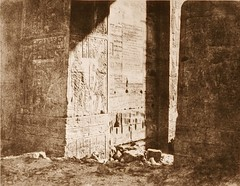 Ile de Fîleh (Philae) - premier pylône - inscription Française gravée sur l'ebrasement oriental, en M [i.e,. H], 1851-2, by Félix Teynard