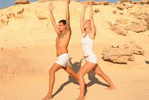 Ibiza yoga: Virabhadrasana I