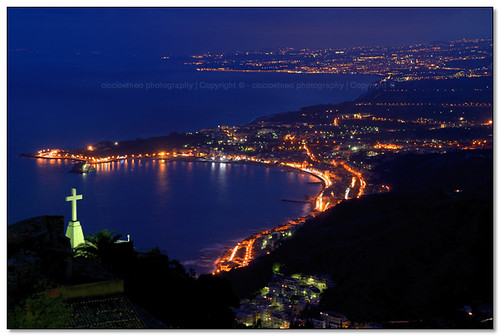 Taormina - Ionic coast by night