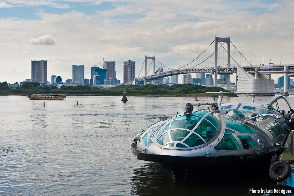 Crucero fluvial y Rainbow Bridge en Odaiba