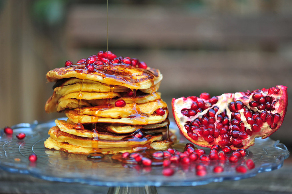 ... home interiors, style and recipes: Pomegranate Greek Yogurt Pancakes