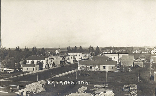 street main iowa 1912 kanawha