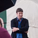 Ian Rankin photoshoot | Ian Rankin smiles for the press