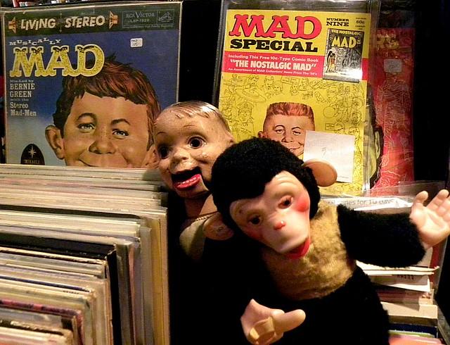 "Creepy toys at ""The Needle"" resale shop, Portland, Oregon"