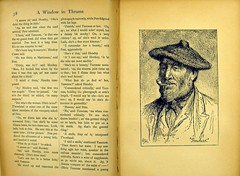 J. M. Barrie's 'A Window in Thrums'. Page 38-39 from the 1899 edition. Z1-c.22