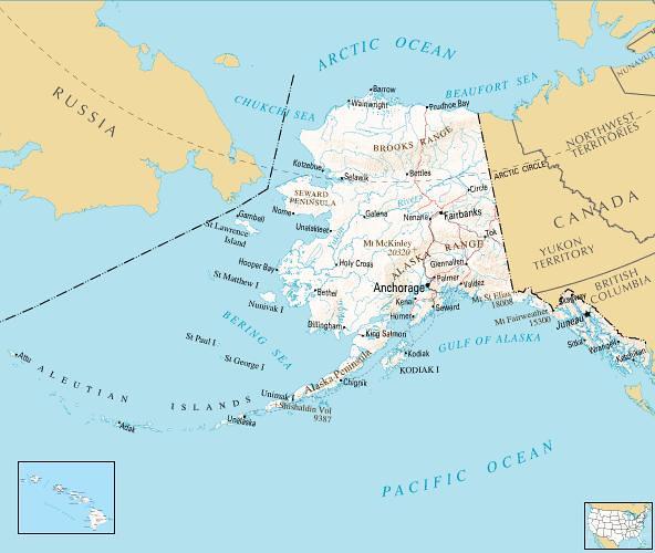 United States by Alaska