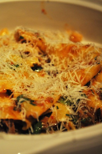 duck pasta with cheese
