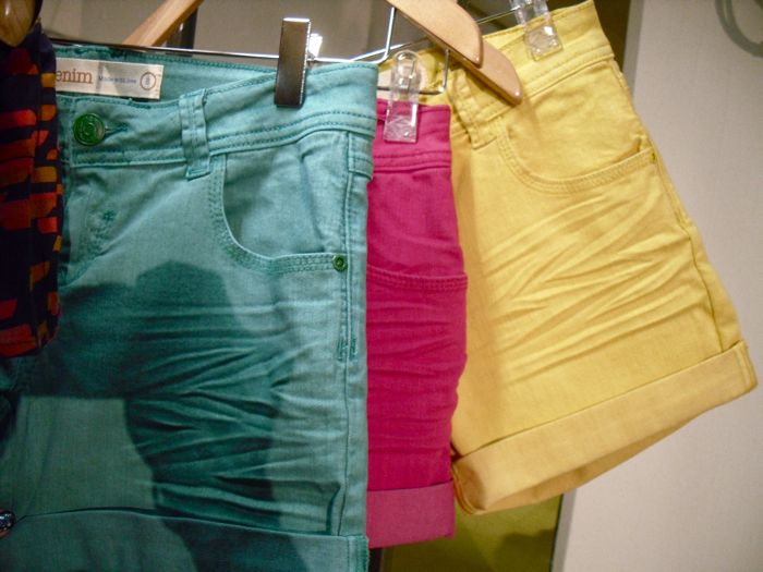 coloured shorts