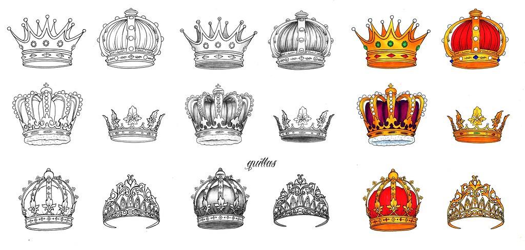 Set De Diseños De Coronas Diseños Para Un Tatuaje Encargad Flickr