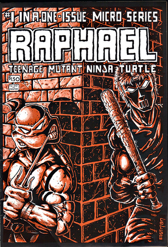 RAPHAEL, TEENAGE MUTANT NINJA TURTLE #1  { ORIGINAL MICRO SERIES } i // Front cover art by Eastman (( 1985 ))