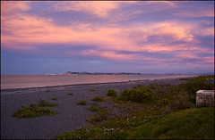 Amazing sky and colours on Bay View beach at sunset