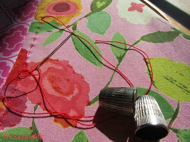 Hand-quilting in the sun