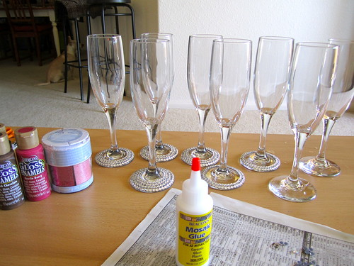 decorate champagne glasses. Decorating Champagne Flute Wedding Week  Flutes Just Two Crafty SistersJust