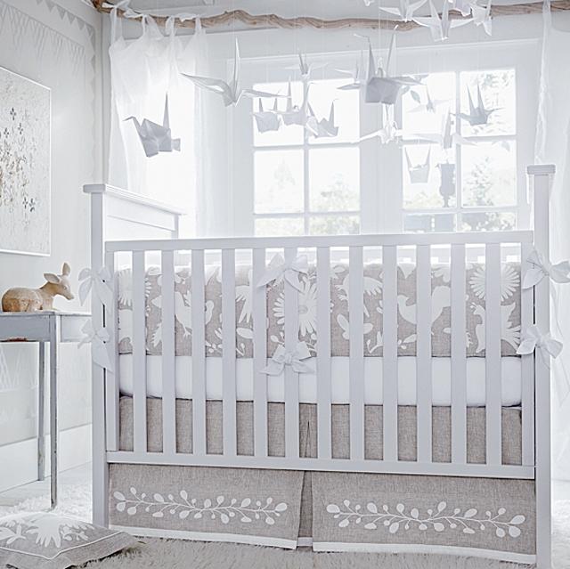 white washed modern crib