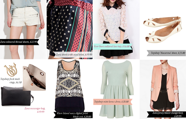 daisybutter - UK Style Blog: wishlist, SS12, zara, river island, ever ours, topshop
