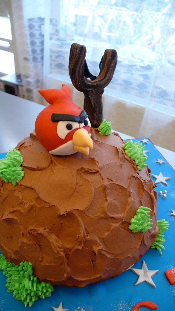 Peachy Angry Birds Cake Angry Birds In Space Birthday Cake C Flickr Funny Birthday Cards Online Inifofree Goldxyz
