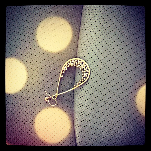 Yay! I thought I had lost my favorite earring, but it was in my car seat this morning. Thank goodness!!!