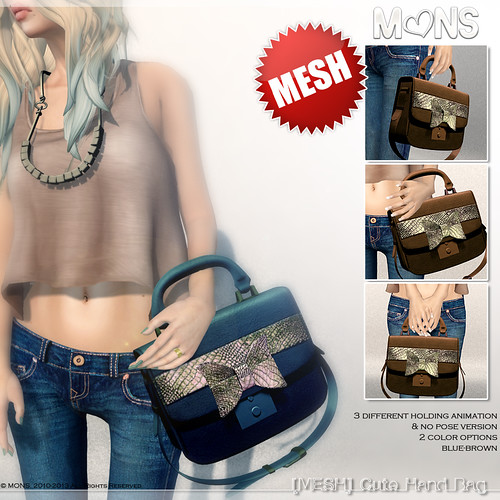 MONS [MESH] Cute Hand Bag (TDRblue) by Ekilem Melodie - MONS