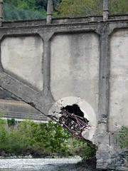 Alte Beton-Brücke, Ruine - Photo of Malaussène