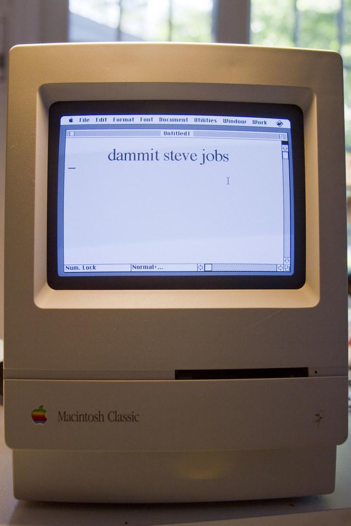 Dammit Steve Jobs