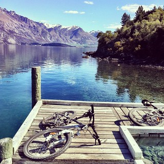 Some Logging Wharf #cycling #queenstown #7miletrail