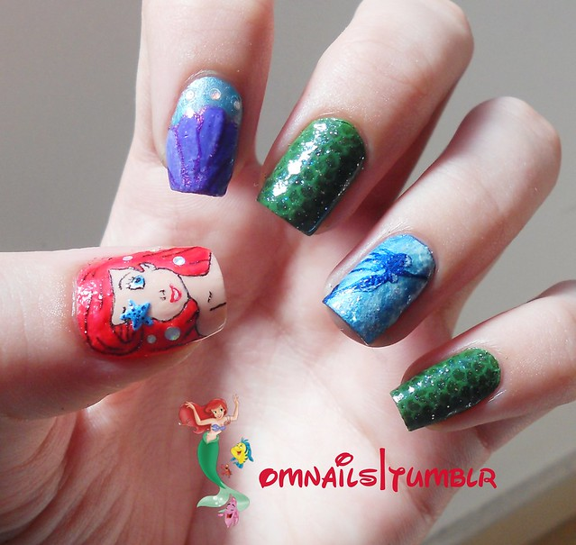 Little Mermaid Nails: The Little Mermaid Nails By OH MY NAILS