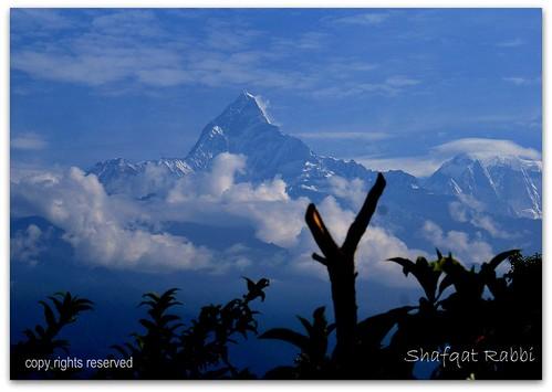 nepal mountain snow hills pokhara annapurna sharangkot