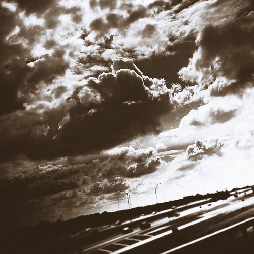 sky monochrome clouds drive nikon highway coolpix s8100 idratherhaveaflyingcar orahelicopter imsickofdriving